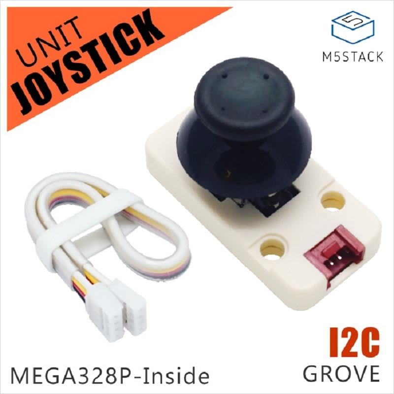 M5Stack Official New Joystick Unit MEGA328P I2C/Grove Connector Compatible X/Y Axis & Button For ESP32 Arduino Development Kit