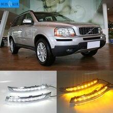 Feu de voiture anti-brouillard pour Volvo XC90, clignotant, 2 pièces, DRL, pour modèles 2007, 2008, 2009, 2010, 2011, 2012, 2013