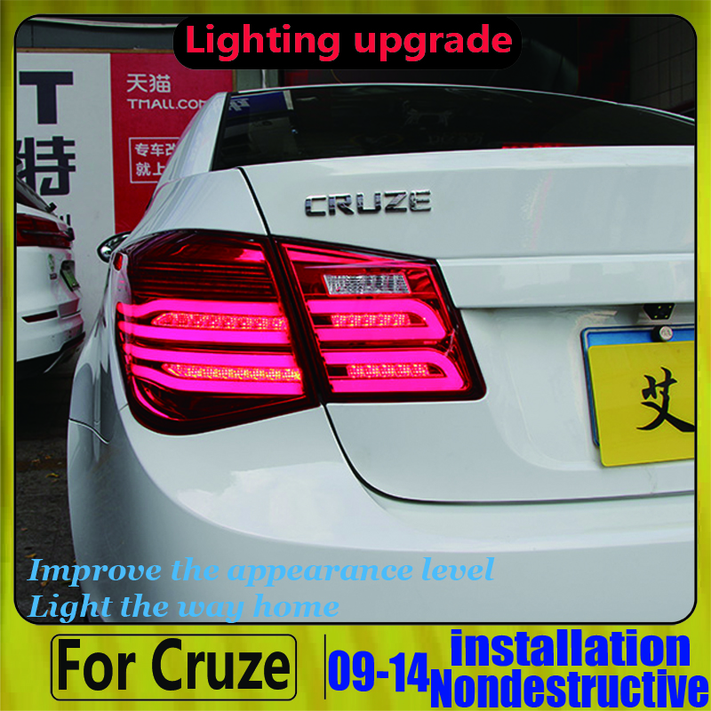 LED Taillight For <font><b>Chevrolet</b></font> <font><b>Cruze</b></font> LED Rear <font><b>Light</b></font> Back Lamp Assembly 2009-2015 Revere +Turning+<font><b>Running</b></font>+Park <font><b>light</b></font> image