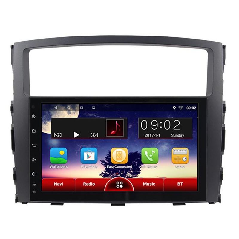 "Chogath 9"" 1024*600 Quad Core Android 9.0 Car DVD Radio GPS For MITSUBISHI PAJERO V97 2006-2015 With Maps Support Steeling Wheel"