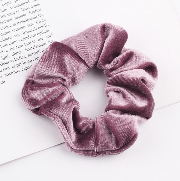 33 цвета, корейские Бархатные резинки для волос, эластичные резинки для волос, одноцветные женские головные уборы для девушек, заколки для волос с конским хвостом, аксессуары для волос - Цвет: DouSha