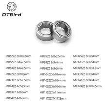 O envio gratuito de 10 pçs/lote alta qualidade mr series mr52zz mr63zz mr85zz mr128zz mr137zz rolamento metal blindado rolamentos de esferas