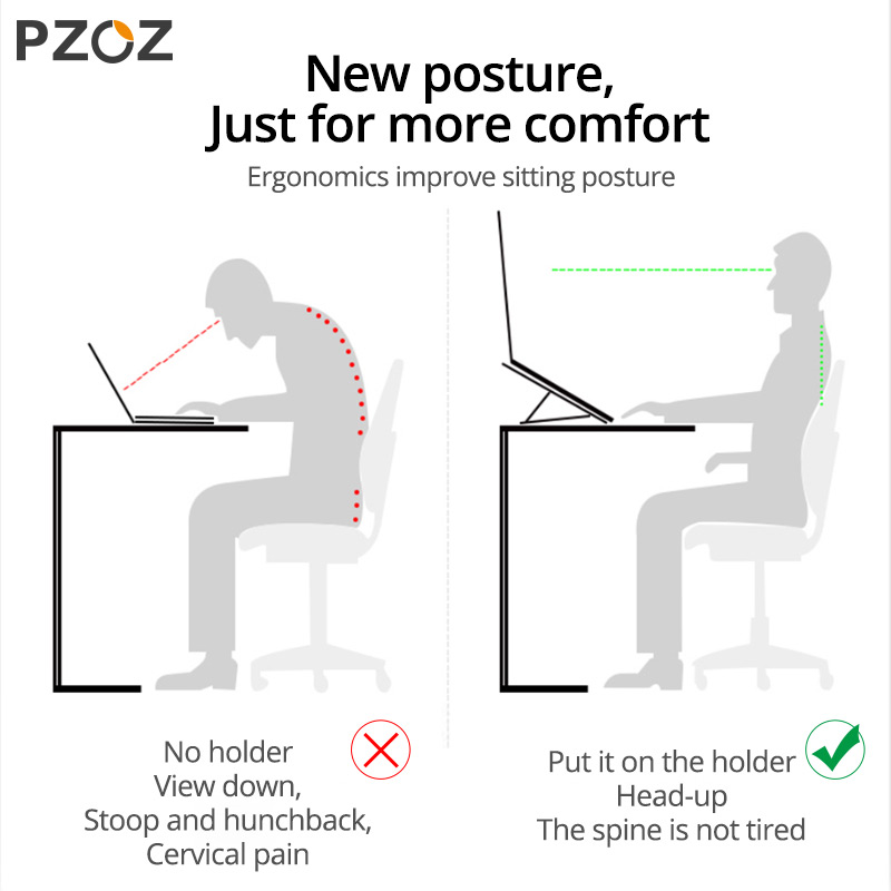 cheapest PZOZ Laptop Stand Holder For MacBook Pro Notebook Tablet Portable Adjustable Foldable Bracket For iPad MacBook Laptop Universal