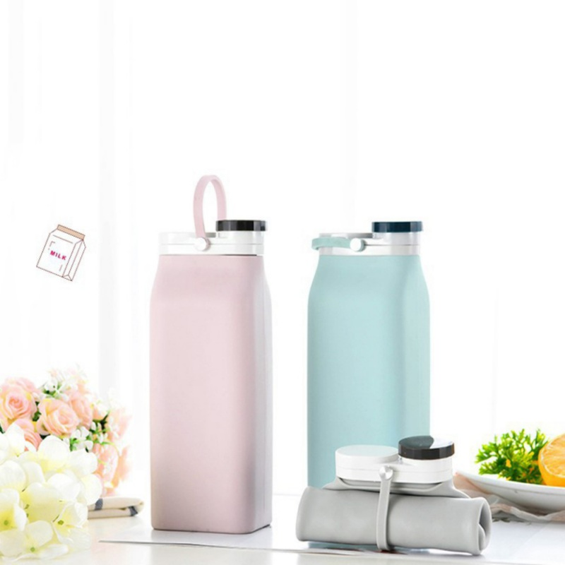 600ML Folding Water Bottle Portable Silicone Lightweight Compact Water Flask For Travelling Camping, Hiking & Sports|Water Bottles|   - AliExpress