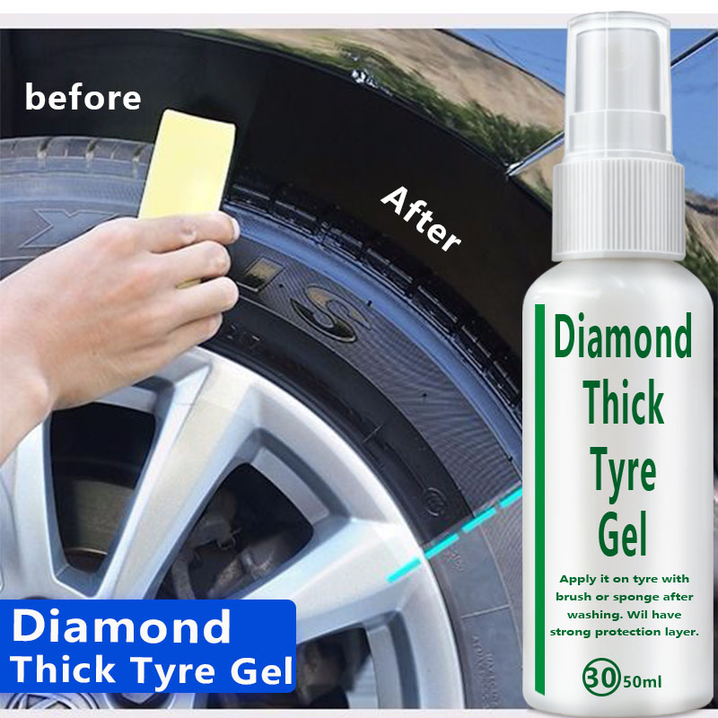 New50ML Car Tire Protector Bright Wax For Car Tires Restoration Agent Tire Protector Tire Restoration Accessory
