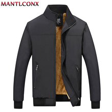 MANTLCONX חורף מעיל גברים 2020 מותג מקרית Mens מעילי מעילי עבה גברים להאריך ימים יותר מעיל זכר בגדי צמר לעבות מעילים