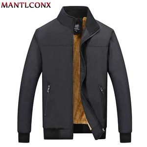 Image 1 - MANTLCONX Winter Jacket Men 2020 브랜드 캐주얼 남성 자켓 및 코트 두꺼운 남성 Outwear Jacket 남성 의류 Fleece Thicken Coats
