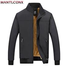 Mantlconx 冬のジャケットの男性 2020 ブランドカジュアルメンズジャケットとコート厚い男性生き抜くジャケット男性服フリース厚み