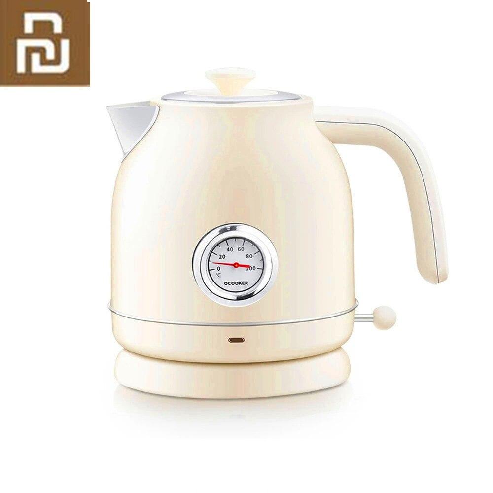 Оригинальный Youpin Ocooker Электрический чайник импорт контроль температуры 1.7л большая емкость с часами Электрический чайник