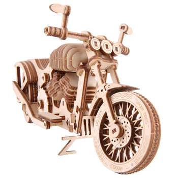 3D Wooden Puzzle Model Motorcycle DIY Handmade  Mechanical for Children Adult Kit Mechanical Game Assembly 3d dragon woodcraft construction kit diy dragon wooden puzzle game assembly toy gift for children adult children
