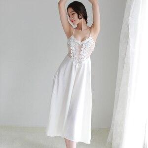 Image 4 - 女性パジャマセクシーなグリーンレースパジャマローブプリンセスドレスネグリジェエレガントなヨーロッパスタイルナイトウェア vestidos