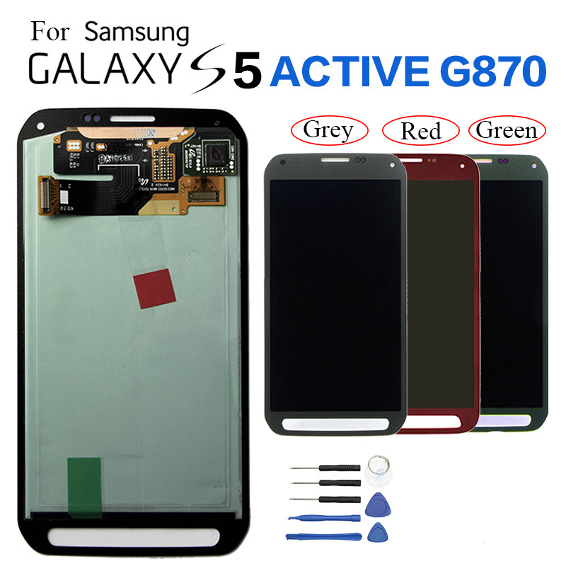 For Samsung S5 Active <font><b>G870</b></font> LCD Display Screen replacement for Samsung S5 Active SM-G870A G870W display module Burn-in Shadow image