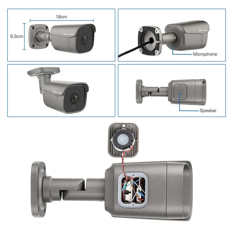 H.265 4CH 5MP POE NVR Kit CCTV Sistema Del Corpo Umano Rilevare Audio AI IP Della Macchina Fotografica di IR Esterno Impermeabile di Video di Sicurezza di sorveglianza Set