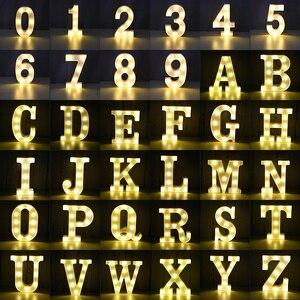 Image 2 - Led inglês carta luz da noite alfabeto bateria marquise sinal número lâmpada interior casa culb diy festa de aniversário casamento decoração