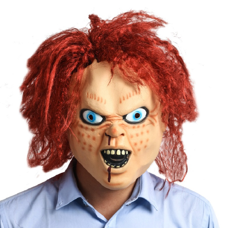 Child's Play 8 CHUCKY Doll Action Figure Toys Model Movie Props Halloween Party Super Horror Zombie Mask PVC Toys Fof Children