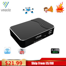 Vmade newest terrestrial receive DVB T2 full HD 1080P DVB T2 H.265 decode tuner support built wifi youtube AC 3 set top box