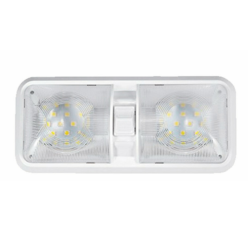 Universal Car Ceiling Double e Light for Camper Trailer Marine RV 48 LED 12V 520LM Car Light Lamp White Roof Lamp