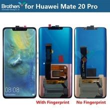 LCD מסך עבור Huawei Mate 20 פרו LCD תצוגה עבור Huawei Mate 20 פרו LCD עצרת עם טביעת אצבע עבור 8G מגע מסך Digitizer