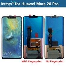 LCD Screen für Huawei Mate 20 Pro LCD Display für Huawei Mate 20 Pro LCD Montage Mit Fingerprint für 8G Touchscreen Digitizer