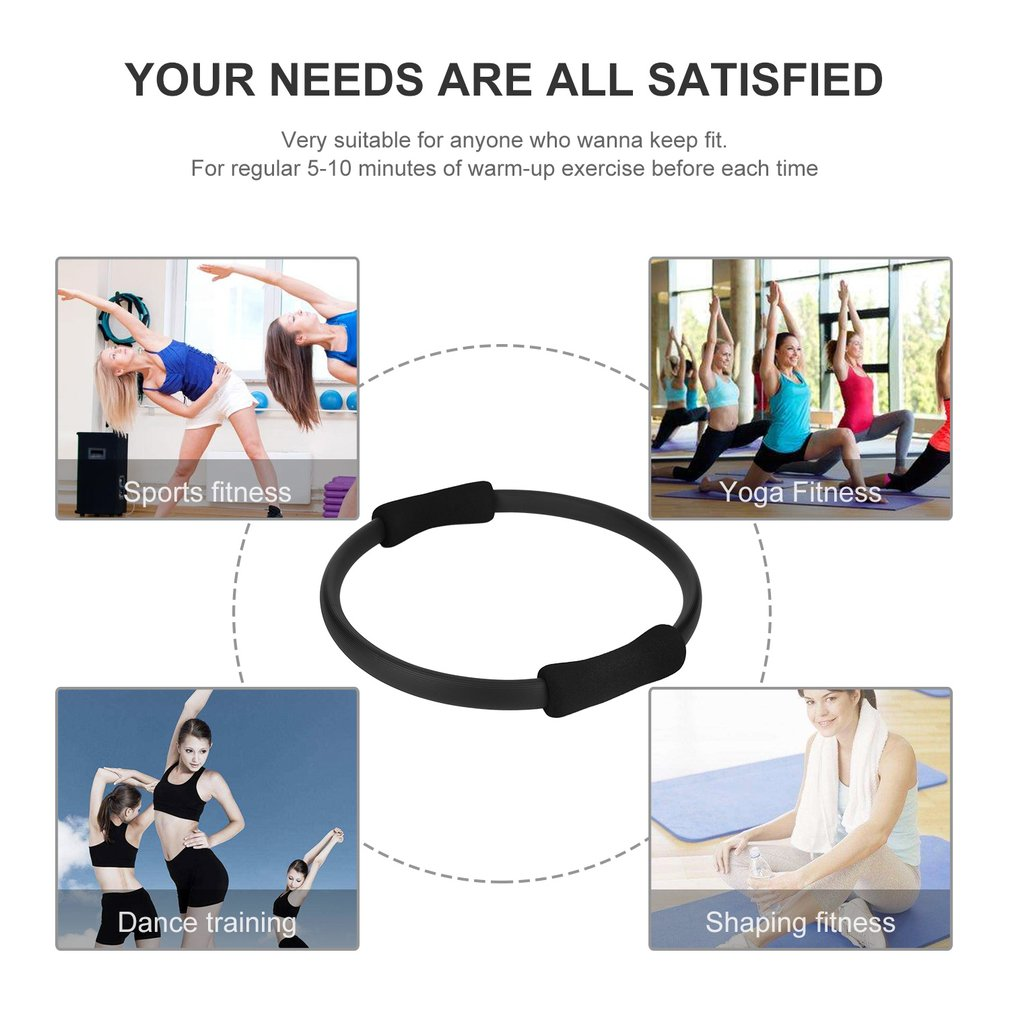 Pilates Ring Magic Circle Dual Grip Sporting Goods Yoga Ring Exercise Fitness 1