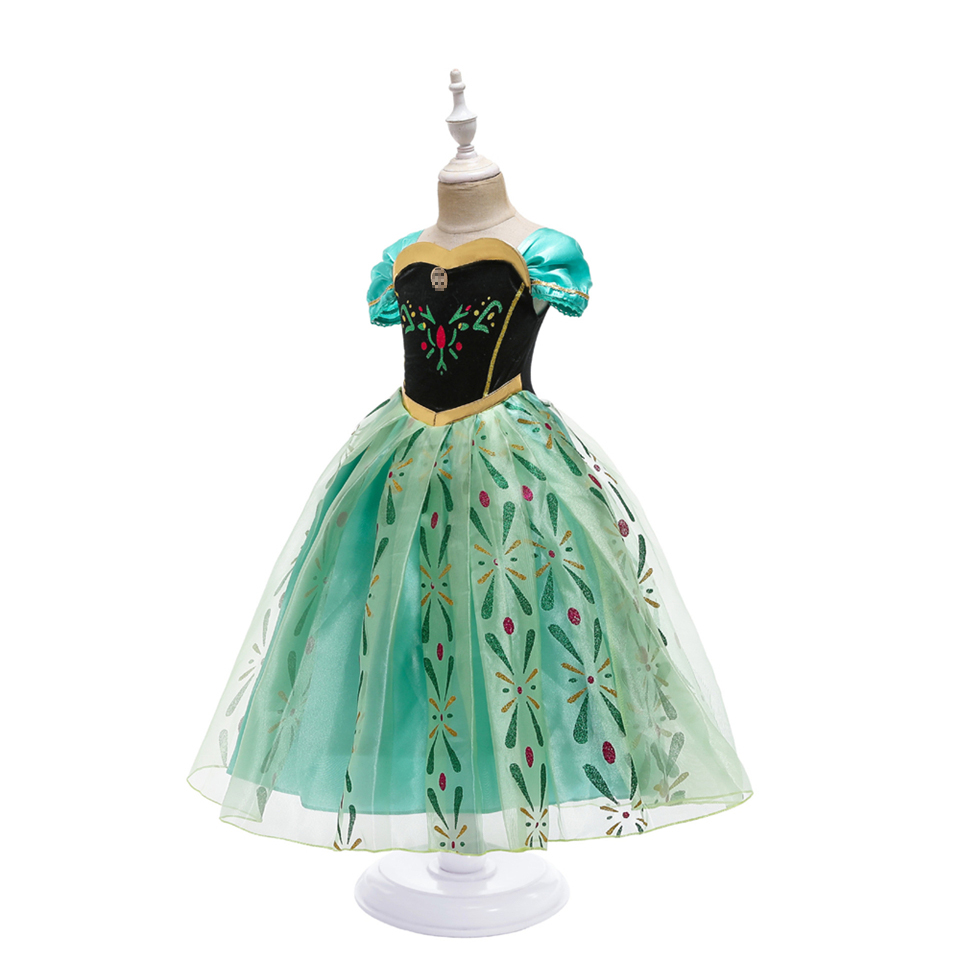 Infant Girl Christmas Dress Children's Party Anna Dress Carnival Costumes for Girls Disguise Child Elsa Anna Costume Elza Dress