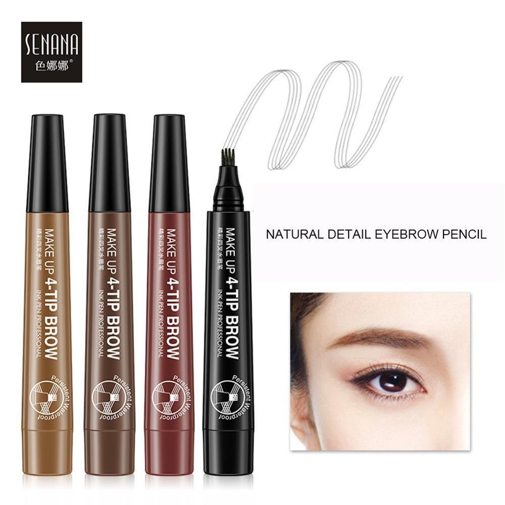 Color Nana Eye Color Four-fork Water Eyebrow Pencil Lasting Waterproof And Sweat-proof 3