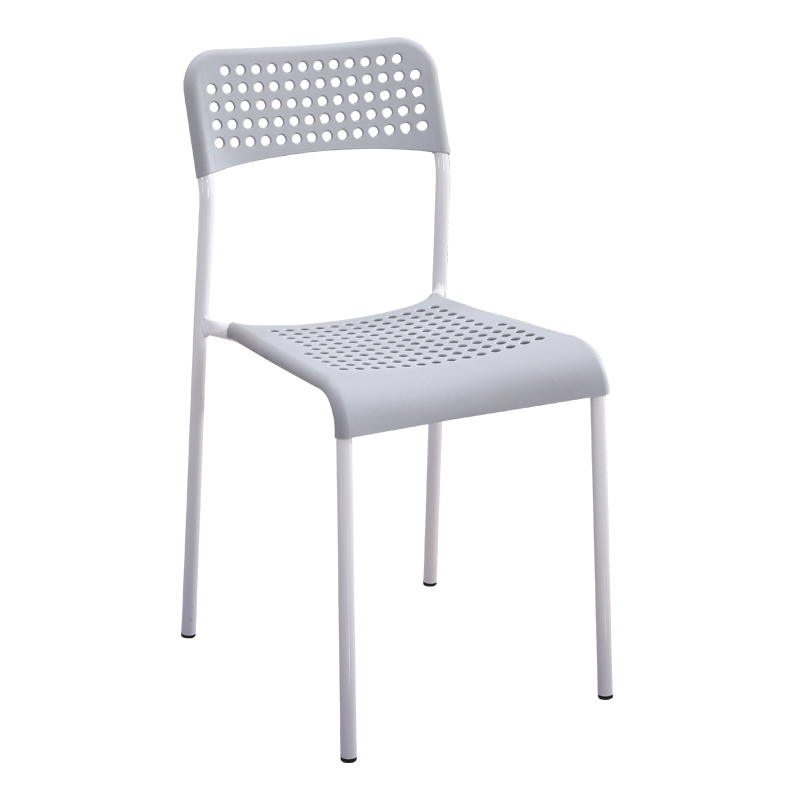 Household Plastic Chair Modern Minimalist Dining Chair Adult Backrest Stool Computer Office Chair Student Training Desk Chair