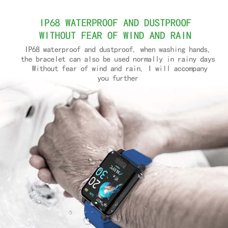 inteligente pulseira banda monitor de temperatura fitness