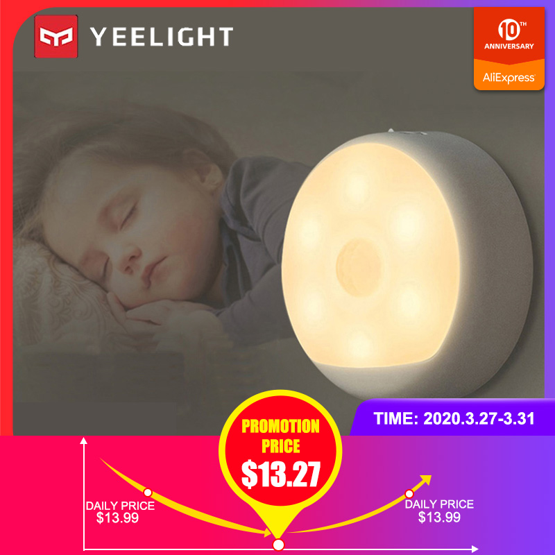 Yeelight Night Light Rechargeable LED Light Control Body Automatic Induction Motion Sensor Bedroom Bedside Smart Remote Control