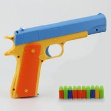 Brinquedo das crianças simulação de arma de bala macia manual de cor curta bala sniper rifle pai-filho esportes ao ar livre role playing