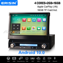Erisin 5188 Android 10 0 uniwersalne samochodowe Stereo CarPlay GPS wi-fi Bluetooth TPMS DVB-T DAB + OBD2 DVR USB SD CD DVD pojedyncze 1Din Navi tanie tanio CN (pochodzenie) Jeden Din Max 4*45W 128G System operacyjny Android 10 0 Video cd Jpeg Dvd-r rw Dvd-ram 1024 * 600 3 5kg