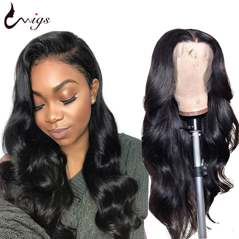 Uwigs 4x4 Lace Closure Wig Brazilian Body Wave Wig With Baby Hair Pre Plucked Remy Human Hair Wigs For Black Women 180 Density