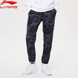 Li-ning hombres Wade pantalones ajuste Regular 72% algodón 28% Pantalones deportivos poliéster Li Ning forro confort Pantalones deportivos AKLP333 MKY530