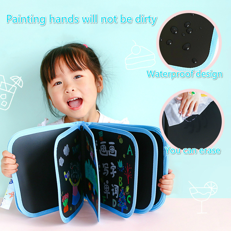3/PCS Hot style Give the children write portable sketchpad DIY graffiti paintings chalkboard erasable gouache painting strokes