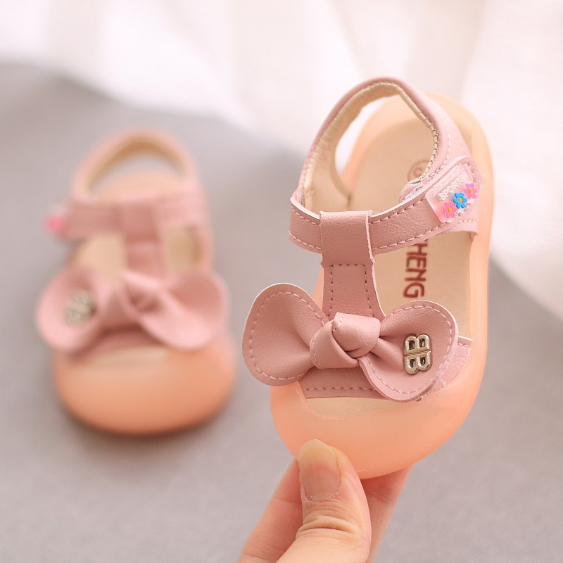 2020 Summer Newborn Baby Girls Sandals Soft Baby First Walkers Sale Pu Leather Baby Clogs Baby Girl Shoes Sandals