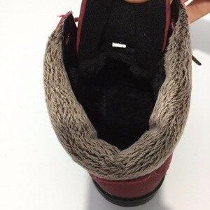 Image 5 - New Listinghigh Quality Fashion Warm Snow Boots 2018 Heels Winter Women Platform