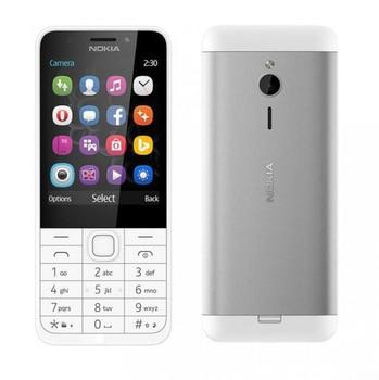 Refurbished Unlocked Cell Phone Nokia 230 Flashlight FM Single/Dual Sim 2.0MP Camera English/Hebrew/Arabic/Russian Keypad 2