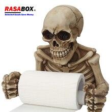 RASABOX- Toilet Paper Holders, Skull Shape Tissue Holder, Bathroom Toilet Roll Paper Towel Rack все цены