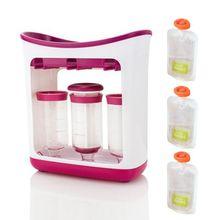 Новорожденный малыш Squeeze пакет фруктового сока бытовой автомат для наливания напитков руководство детское питание Дополнение контейнер для хранения
