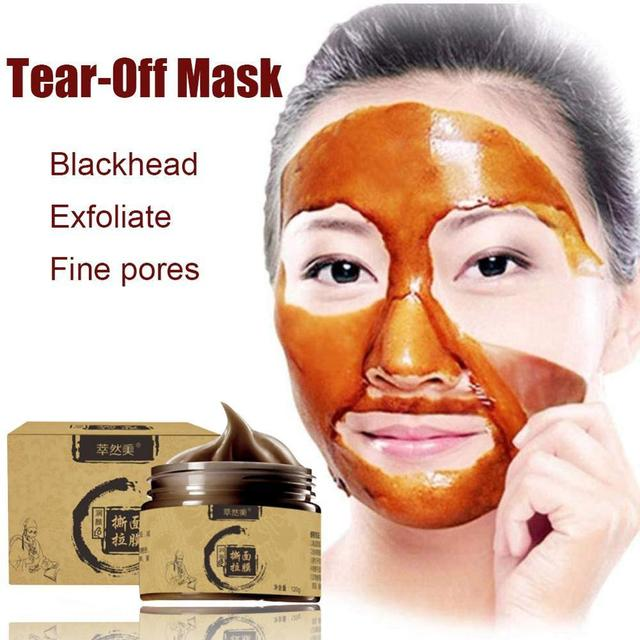 Herbal Beauty Peel-off Transitional Herbal Ginseng Black Head Peel Off Face-pack Clean Pores Blackheads Face-pack 10