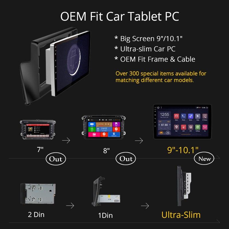Wan qi 2G RAM 32G ROM 9 pulgadas Android 8,1 para Hyundai Elantra 2011-2013 Corea Radio de coche gps de navegación con Playstore - 5