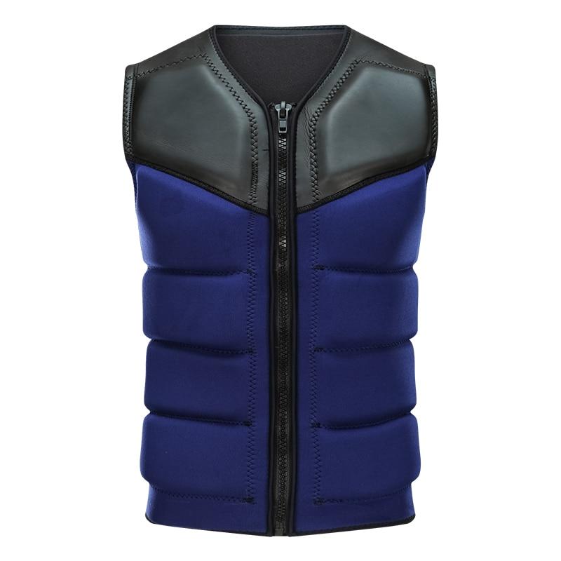 Life Jacket Vest Neoprene Watersports Safety Life Saving Vest For Outdoor Kayaking Boating Drifting Swimming Sailing Sporting