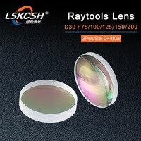 LSKCSH Raytools Collimator Lenses/Focus Lens For Fiber Laser Cutting Head BT240S/BM110/BM111 D30 F75/100/125/155/200mm Bodor