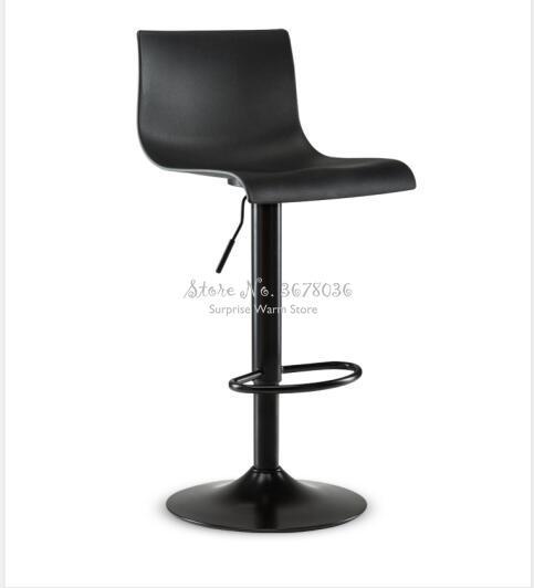 Morden Bar Chair Simple High Dining Chair Home Stool Bar Chair Rotating And Lifting Bar Stool High Stool Back Bar Chair 2 Colors