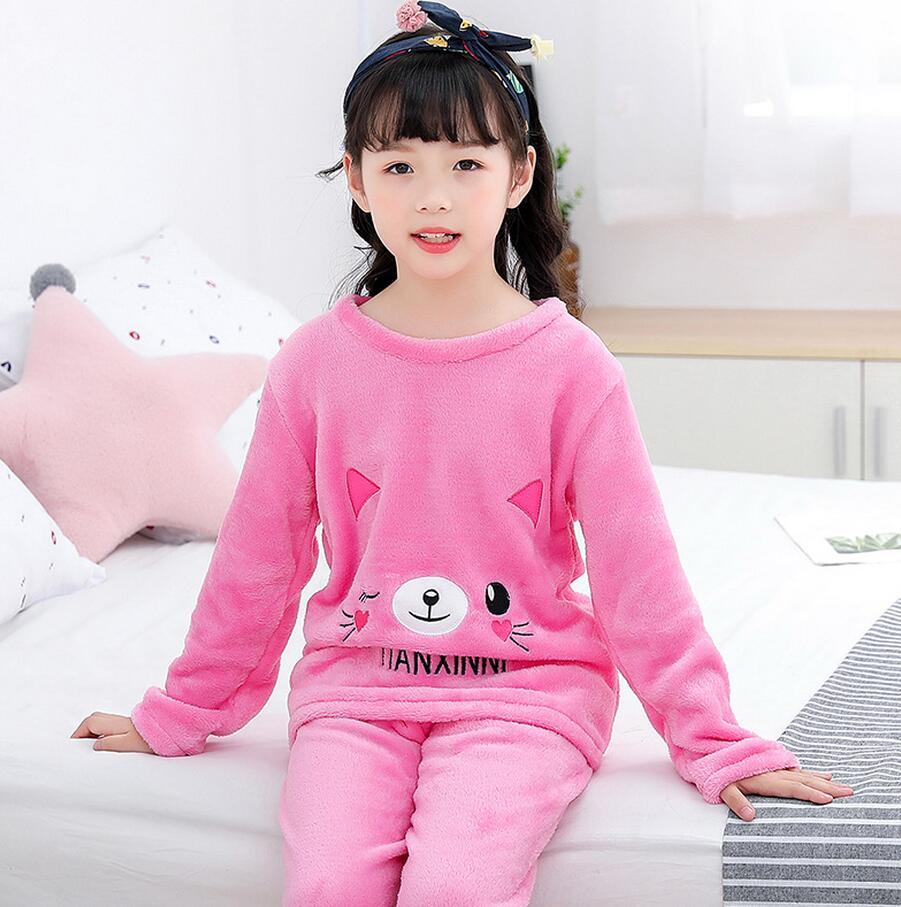 Новинка года; зимняя детская флисовая Пижама; теплая фланелевая одежда для сна; домашняя одежда для девочек из кораллового флиса; детская пижама; домашняя одежда; Пижама для мальчиков - Цвет: model 3