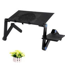 Regulowany stolik pod komputer składany stojak na notebooka laptopa leniwy blat stołu ze stopu aluminium