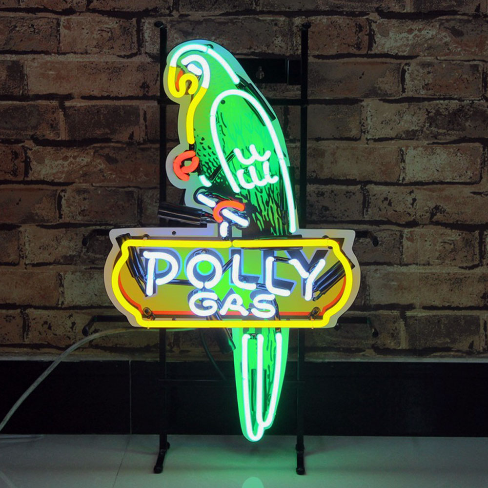Factory Outlet Custom Neon Tube Light Signs Eagle And Other Logos With Metal Support Neon Signs
