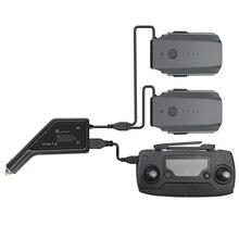 Açık çift akülü araba şarj hızlı şarj akıllı pil şarj aleti USB portu ile uzaktan kumanda DJI Mavic Pro için