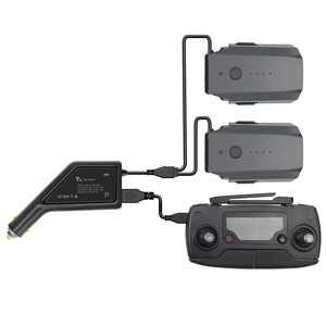 Image 1 - Outdoor Dual Battery Car Charger Fast Charging Intelligent Battery Charger with USB Port Remote Controller for DJI Mavic Pro