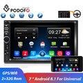 Автомобильный мультимедийный плеер Podofo  2din  Android  GPS  Navi  Wi-Fi  универсальный автомобильный стерео плеер для Volkswagen  Nissan  Hyundai  Kia  toyota